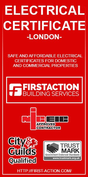 First Action electrical certificate